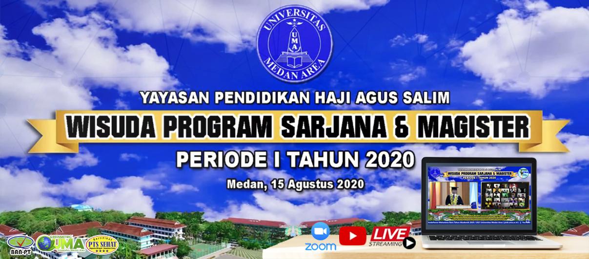 Wisuda Daring Program Sarjana Dan Magister Universitas Medan Area Periode I Tahun 2020