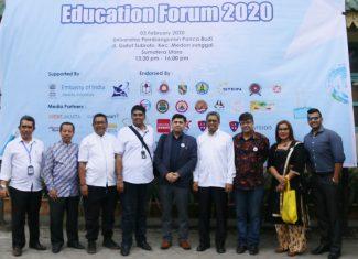Dr. Ir. Zulheri Noer MP (WR IV UMA) Menghadiri Indonesia India Higher Education Forum 2020